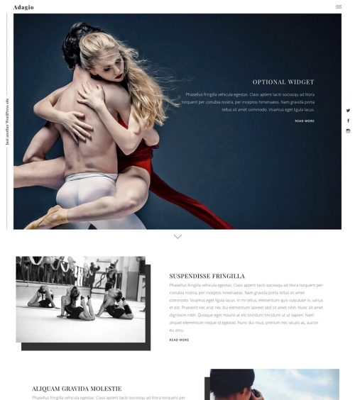 Adagio, JetPack portfolio WordPress theme