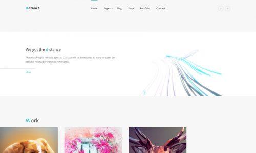 Distance portfolio wordpress theme