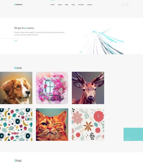 Distance portfolio wordpress theme
