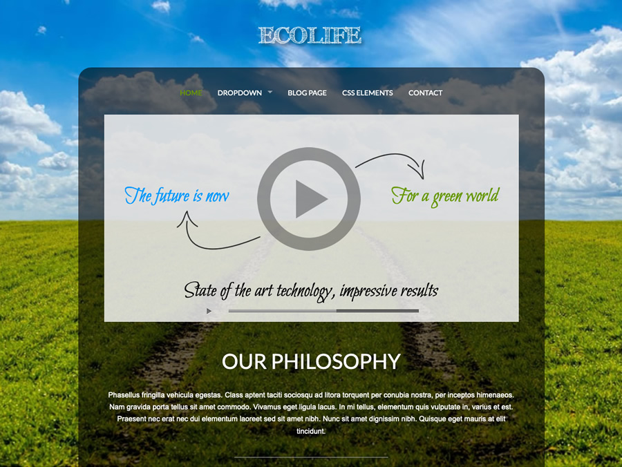 Ecolife, green non-profit business WordPress theme
