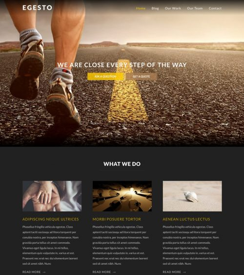 Egesto, black business wordpress theme
