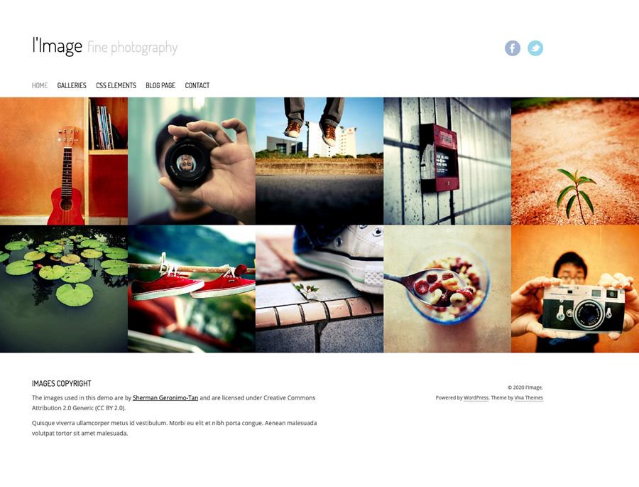 l'Image, minimal photography WordPress theme