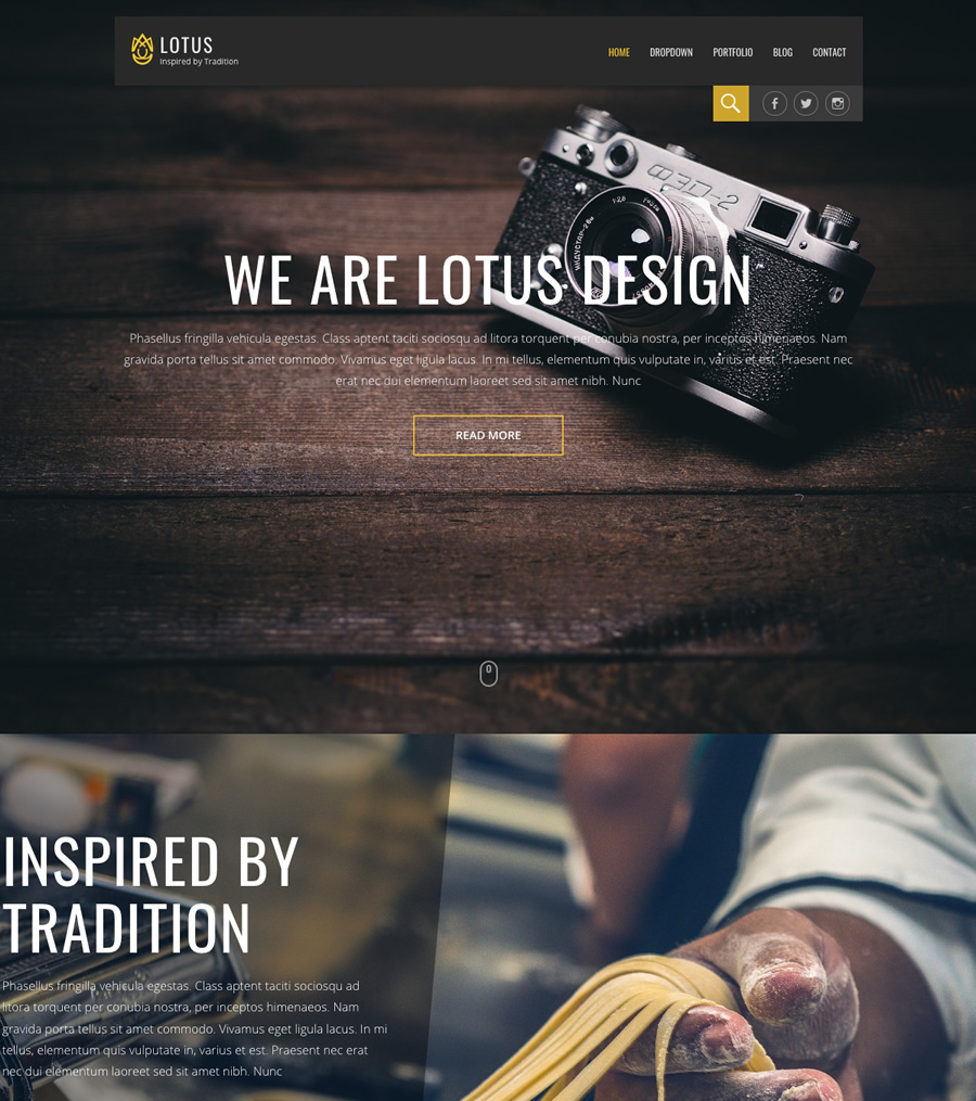 Lotus, fully responsive small business WordPress theme