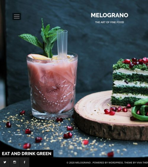 Melograno, restaurant and bar wordpress theme