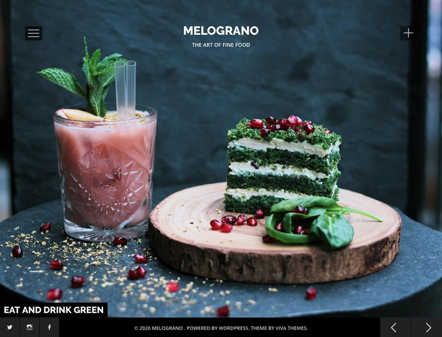 Melograno, restaurant and bar wordpress theme