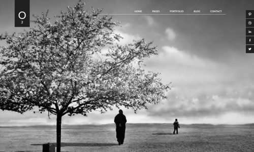 O2, photography and portfolio WordPress theme