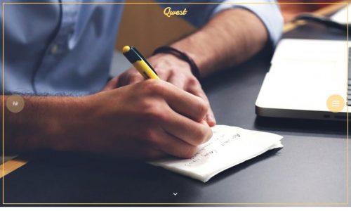 Qwest, blog and portfolio WordPress theme