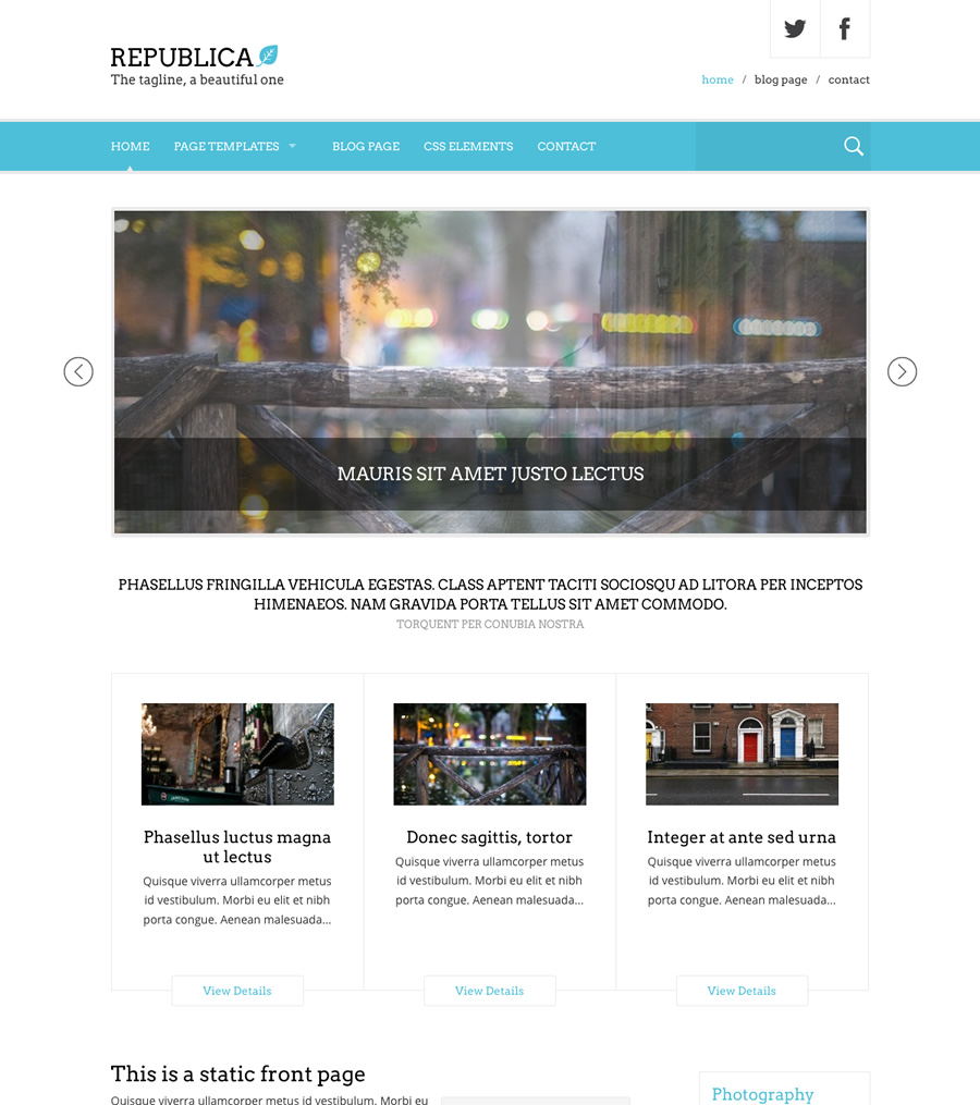 Republica, lawyers politicians WordPress theme