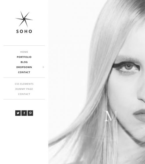 Soho, minimal and modern wordpress theme