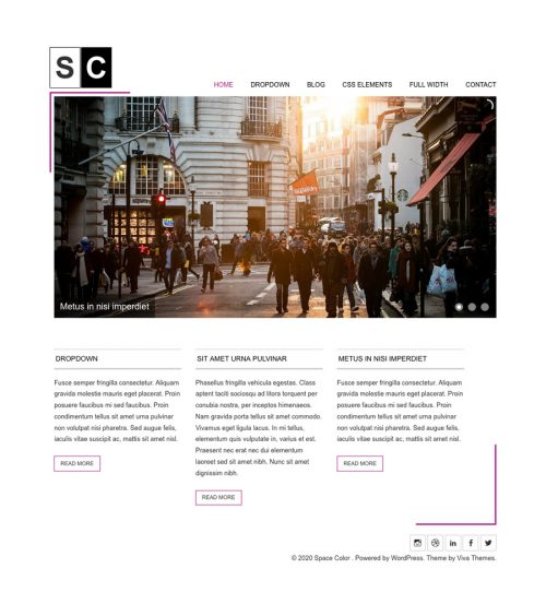 Space Color, minimal business WordPress theme