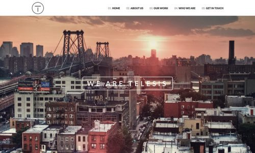Telesis, one page, landing page WordPress theme