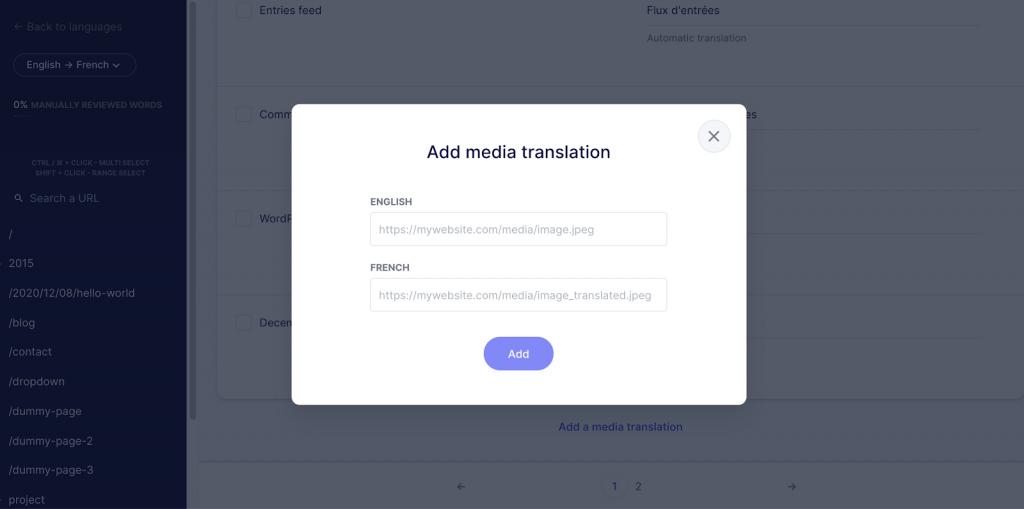 Weglot Media Translation